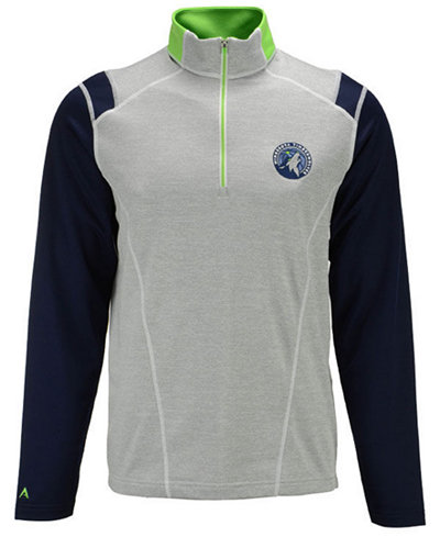 Antigua Men's Minnesota Timberwolves Automatic Half-Zip Pullover