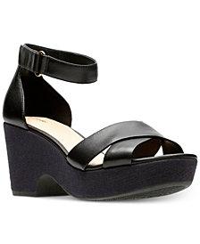 Clarks Artisan Women's Maritsa Ruth Wedge Sandals