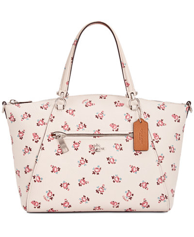 COACH Prairie Small Satchel with Floral Bloom