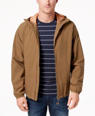 Barbour Men\u0027s Tailored-Fit Irvine Full-Zip Hooded Rain Jacket