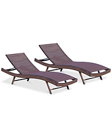 Jordan Outdoor Chaise Lounge (Set Of 2), Quick Ship