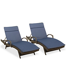 Hunter Outdoor Chaise Lounge (Set Of 2), Quick Ship