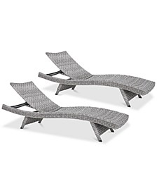 Trevor Outdoor Chaise Lounge (Set Of 2)