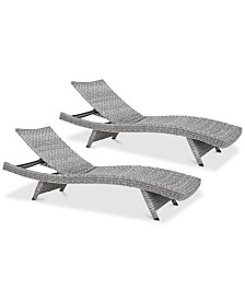 Trevor Outdoor Chaise Lounge (Set Of 2), Quick Ship