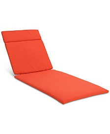 Brayden Outdoor Chaise Lounge Cushion, Quick Ship