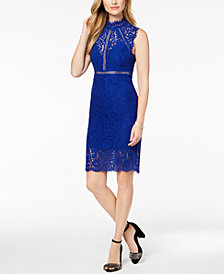 Bardot Lace Illusion Sheath Dress