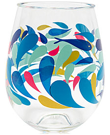 Vera Bradley Splash Multi 2-Pc. Stemless Wine Glass Set