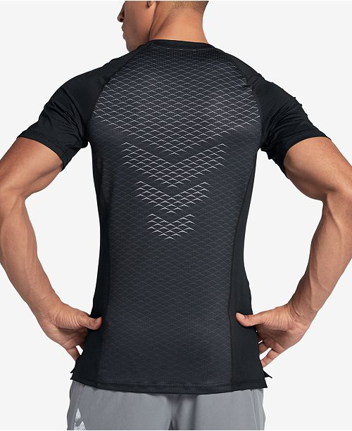 4bb6cf13a Nike Men's Pro HyperCool Fitted T-Shirt & Reviews - T-Shirts - Men ...