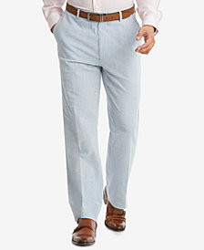 Tommy Hilfiger Men's Slim-Fit THFlex Stretch Blue/White Stripe Seersucker Suit Pants