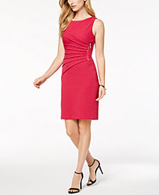 Ivanka Trump Textured Starburst Sheath Dress