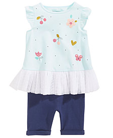 First Impressions Floral-Print Tunic & Shorts Separates, Baby Girls, Created for Macy's