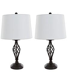 Set of 2 Cage Lamp Set