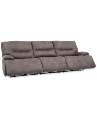 Felyx 116'' 3-Pc. Fabric Sectional Sofa With 3 Power Recliners, Power Headrests And USB Power Outlet