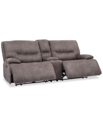"Felyx 97"" 3-Pc. Fabric Power Reclining Sofa With 2 Power Recliners, Power Headrests, Console And USB Power Outlet"