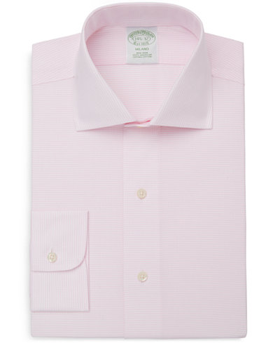 Brooks Brothers Men's Classic/Regular Fit Non-Iron Dobby Dash Dress Shirt