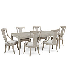 Rachael Ray Cinema Expandable Dining Furniture, 7-Pc. Set (Rectangular Dining Table & 6 Sling Back Dining Chairs)