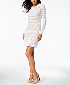 MICHAEL Michael Kors Crochet Sweater Dress
