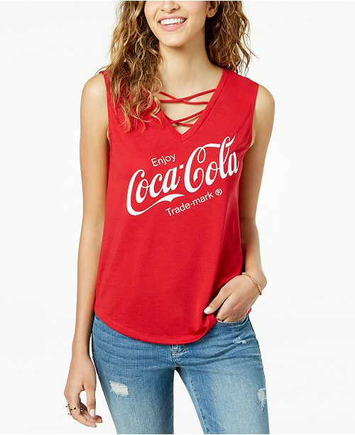 99ee569576a110 Love Tribe Juniors  Coca-Cola Graphic Tank Top   Reviews - Tops ...