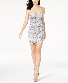 GUESS Janiah Printed Ruched Bodycon Dress