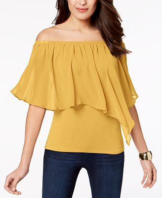 Thalia Sodi Convertible Off The Shoulder Top Created For Macy S