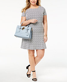 MICHAEL Michael Kors Plus Size Printed Drop-Waist Dress
