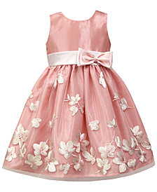 Jayne Copeland Satin Embroidered Dress, Little Girls