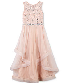 Speechless Sequin Lace Maxi Dress, Big Girls