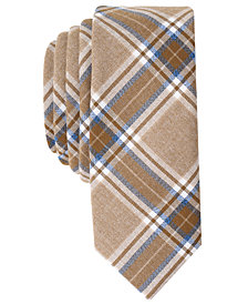 Original Penguin Men's Inversion Plaid Skinny Tie