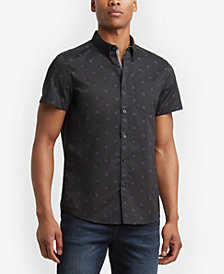 Kenneth Cole Men's Windowbox-Print Pocket Shirt