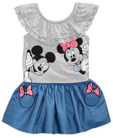 Disney's® Minnie Mouse 2-Pc. Graphic-Print Top & Skirt Set, Baby Girls