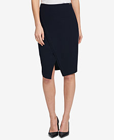 DKNY Asymmetrical Split Skirt, Created for Macy's