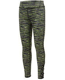 Ideology Space-Dyed Caged-Hem Leggings, Little Girls, Created for Macy's