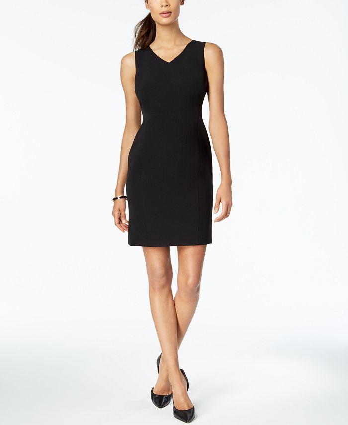 Kasper - Petite V-Neck Sheath Dress