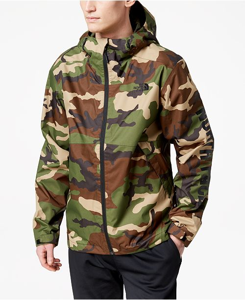 The North Face Men s Millerton Hooded Rain Jacket with Sleeve Logo ... f3be48f81d77