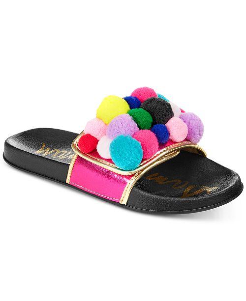 fc52f52dd99d ... Sam Edelman Mackie Cayman Pom-Pom Slide Sandals