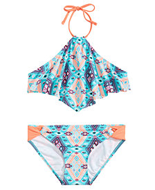 Summer Crush 2-Pc. Printed Halter-Neck Bikini, Big Girls