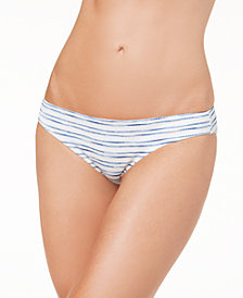 Dolce Vita Ruched-Back Cheeky Bikini Bottoms