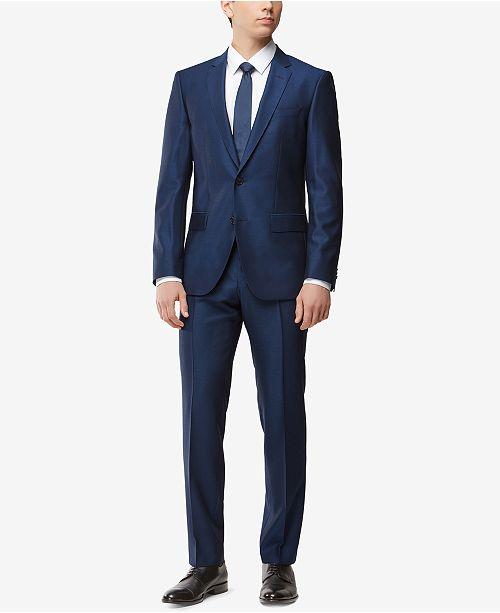 ce8ea74a4 Hugo Boss BOSS Men's Slim-Fit Stretch Tailored Suit & Reviews ...