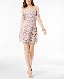 French Connection Off-The-Shoulder Lace Dress
