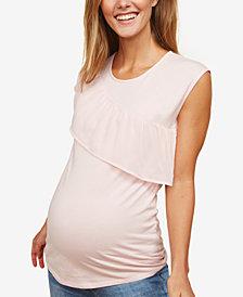 Motherhood Maternity Ruffled Top