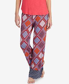 Layla Drawstring-Tassel Pajama Pants