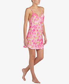 Betsey Johnson Lace-Detail Cutout-Back Chemise