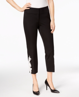 Image of Alfani Applique Ankle Pants, Created for Macy's
