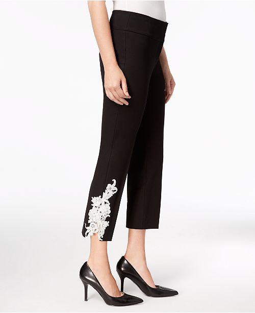 Alfani Appliqué Ankle Pants, Created for Macy's