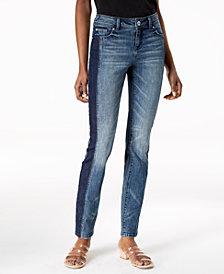 I.N.C. Two-Tone Skinny Jeans, Created for Macy's