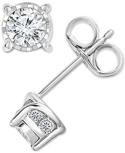 Trumiracle® Diamond Stud Earrings (1/2 ct. t.w.) in 14k Gold, Rose Gold or White Gold
