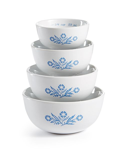 Corningware Cornflower 4-Pc. Measuring Bowl Set