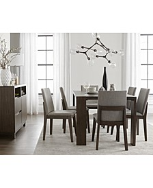 Closeout! Crosby Dining 7-Pc. Set (Table & 6 Upholstered Side Chairs), Created for Macy's