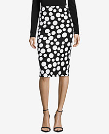 ECI Printed Pencil Skirt
