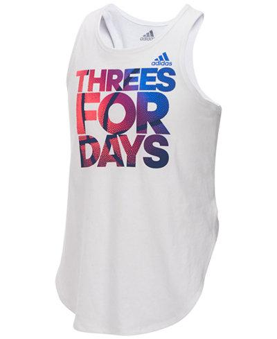 adidas Graphic-Print Tank Top, Big Girls